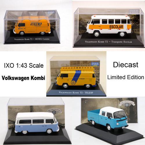 IXO 1:43 V-sW Kombi T2 Sedex Correios Diecast Models Car Christmas Gifts Toys