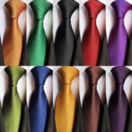 Details about  /Men/'s 8CM Wide Tie Striped Checks Jacquard Woven Necktie Formal Wedding Party