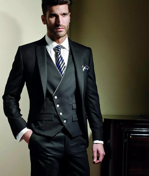 2018 Wedding Suits For Men Black Tuxedo Men Suit Slim Fit Costume Homme Marriage Custom 3 Piece Suit Men For Groomsman Terno Onshopdeals Com