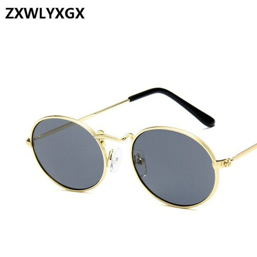bec620a6334 2018 New Fashion Small Metal Frame Steampunk Sunglasses Men Women Vintage  Oval Sun Glasses Female Eyewear Oculos De Sol - OnshopDeals.Com