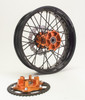 Black Rim Black Spokes Orange Hub