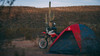 "Dome Tent Red/Grey-Rocky Mountain 4""2""tall"