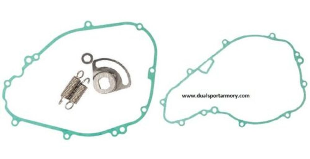 "Tusk Aluminum 7//8/"" Handlebar KX High Bend Silver for Kawasaki KLR650 1987-2018"