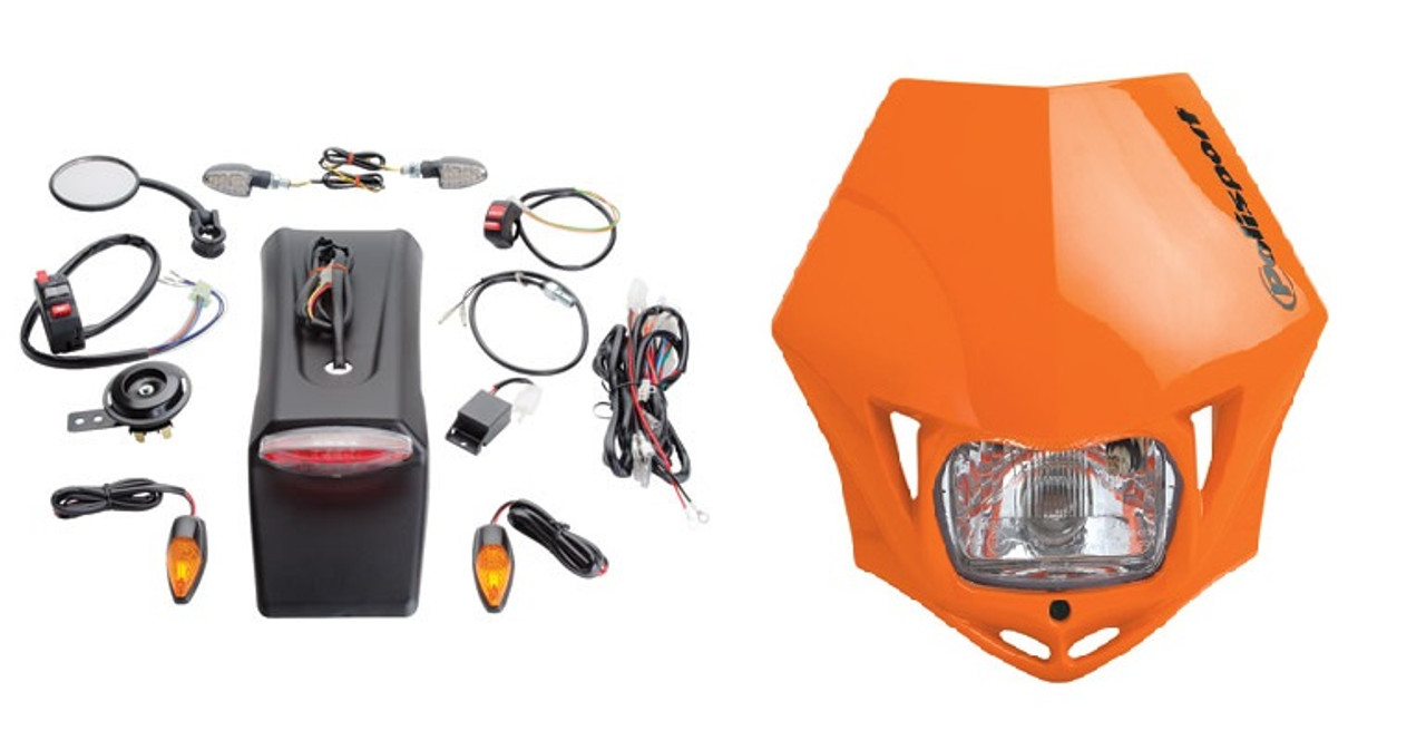 TUSK Enduro Lighting Kit Replmnt Wire Harness for KTM 450 EXC 4-Stroke 2003-2007