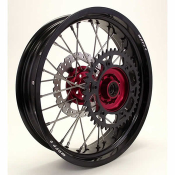 Rear-Red Hub/ Black Rim
