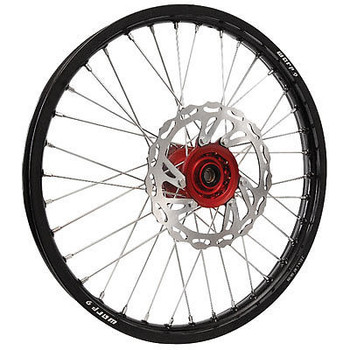 Honda CRF/CRF-X Wheel set combo 21/19 Warp9 Black w/Red