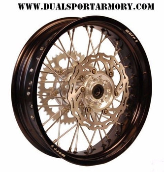 "SUZUKI DRZ 400 E/ES/S WARP9 SUPERMOTO 17"" WHEELS 4.25 REAR BLACK RIM/MOTARD"