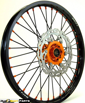 "KTM,Motocross,Complete Wheel set Combo,21/19"",WARP9 Racing, Black/Orange,"