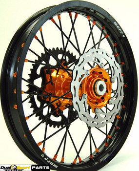 "KTM,Enduro,Complete Wheel set Combo,21/18"",WARP9 Racing, Black/Orange,"