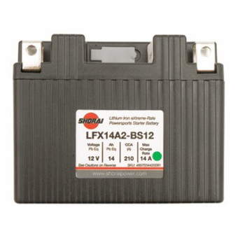 Shorai Lithium-Iron Battery LFX14L2-BS12 Fits: HONDA CRF250L