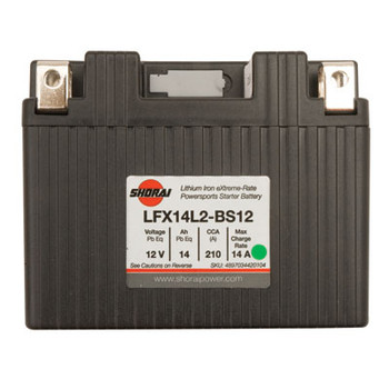 Shorai Lithium-Iron Battery LFX14A2-BS12 Fits: 2000-2018 SUZUKI DR-Z 400S