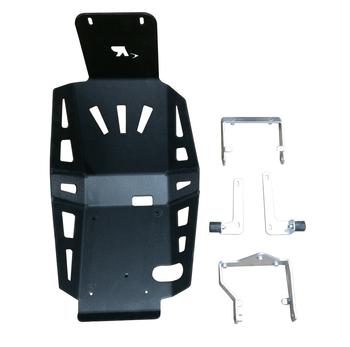 KAWASAKI VERSYS-X300 ALUMINUM SKID PLATE-Black