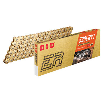 DID 520 ERVT Gold X-Ring Chain 520x120