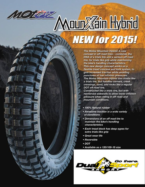 MotoZ Tire Mountain Hybrid DOT Offroad  120/100-18