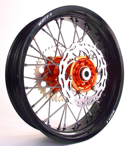 "SM Wheel Sets 17"" SUPERMOTO WHEELS KTM ALL MOTARD WITH FLOATING BRAKES"