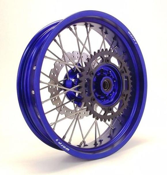 YAMAHA SUPERMOTO WHEEL SET BLUE/BLUE COMPLETE YZ450F/YZ250F 08-2016-Warp9