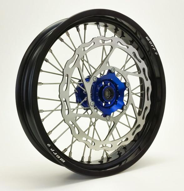 YAMAHA SUPERMOTO WHEEL SET BLACK/BLUE COMPLETE YZ450F/YZ250F 08-2016-Warp9