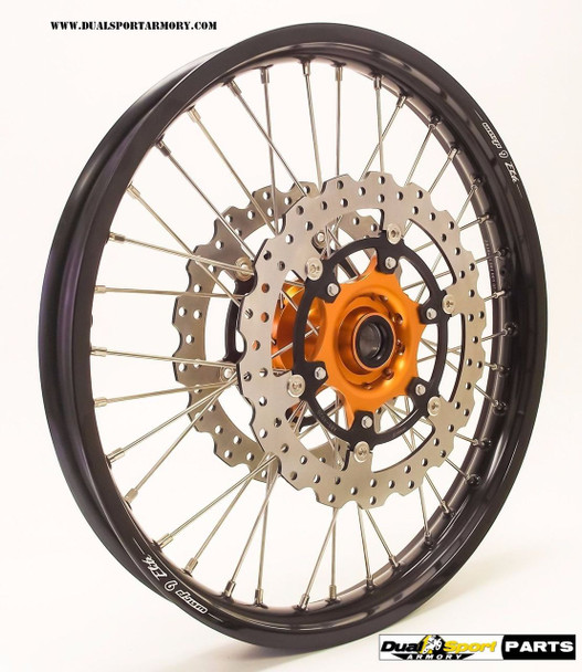 "WARP 9 Combo WHEEL SET 21""/18"" KTM 950/990 ADVENTURE ABS 03-16 CUSH HUB"