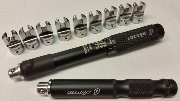 Warp 9 Professional Adjustable Spoke torque Wrench kit