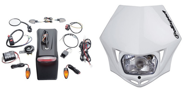Dual Sport,Lighting Kit w/Battery w/Headlight -Tusk