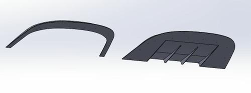 '99/'04 GT/Mach/V6 Front Splitter - Race Version