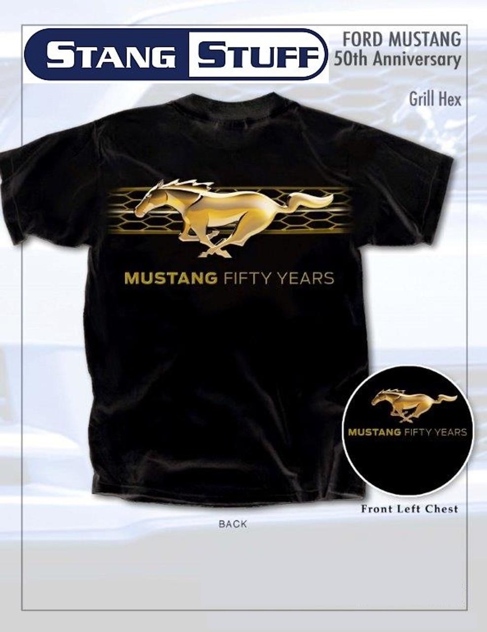 Ford Mustang Kühlergrill Goldzeichen Damen T-shirt M-3XL