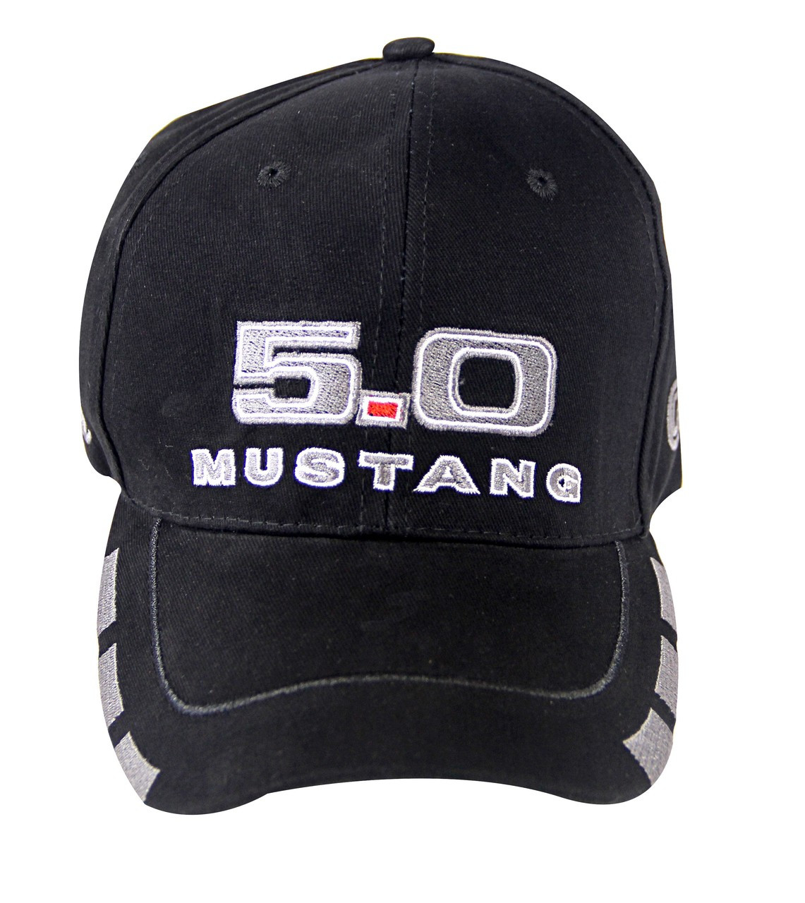 FORD  MUSTANG BLACK AND CHARCOAL TWO TONE HAT WITH WHITE PIPING AND  FORD OVAL
