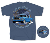 """On The Road Again"" Mustang T-Shirt"