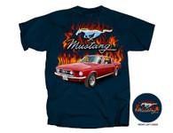 Classic FLAMES T-Shirt - 1967 Mustang