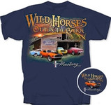 """Wild Horses Out In The Barn"" Mustang T-Shirt"