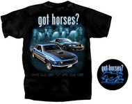 got horses? - Black Mustang Shirt - Medium LAST ONE