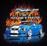 Mustang Flames - Late Model Blue Mustang