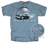 Smoking GT Mustang Blue T-Shirt