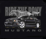 """Ride The Pony"" Mustang T-Shirt"