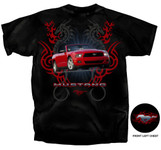 Red 2010 Mustang Dragon Tribal T-Shirt