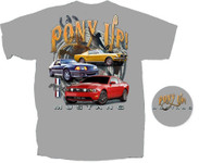 """""""Pony UP"""" Charcoal Mustang T-Shirt"""