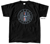 Circular Metallic Silver Tri-Bar T-Shirt