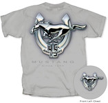 Mustang 45th Anniversary T-Shirt - Ice Gray