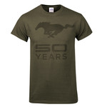 Mustang 50 YEARS Olive Green T-Shirt - Medium