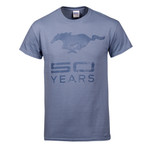 50 YEARS Stone Blue T-Shirt - Clearance