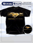 50 YEARS Grill Hex Black Mustang Shirt