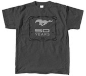 50 Years Dark Heather Tee - MUSTANG