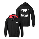 Mustang 50 YEARS Hoodie in Black & Red
