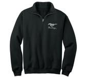 Performance Fleece Black 1/4 Zip Jacket