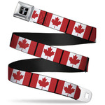 Mustang Seatbelt Belt - Canada Flags