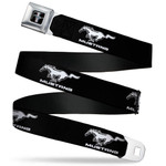 Mustang Seatbelt Belt - Running Horse