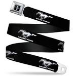 Mustang Seatbelt Belt - Running Horse