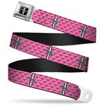 Mustang Seatbelt Belt - Pink Tri-Bar
