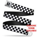 Mustang Seatbelt Belt - Checkered Patterns