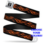 Flames Mustang Seatbelt Belt